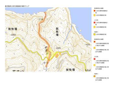 土砂災害警戒区域等マップ(黒島中里周辺)のサムネイル